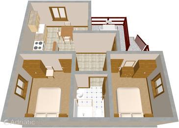 Apartament A-395-a - Apartamenty Uvala Dumboka (Dugi otok) - 395