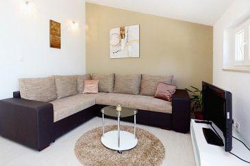 Mudri Dolac, Living room u smještaju tipa apartment, dostupna klima, dopusteni kucni ljubimci i WIFI.