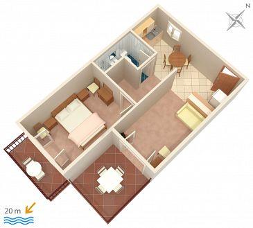 Apartament A-4029-a - Kwatery Sućuraj (Hvar) - 4029