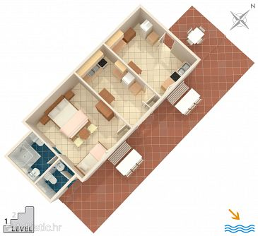 House K-4034 - Vacation Rentals Uvala Vela Lučica (Hvar) - 4034