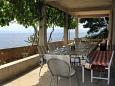 Uvala Vela Lučica, Taras 1 u smještaju tipa house, s pogledom na more i dopusteni kucni ljubimci.