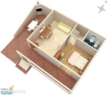 Apartment A-4049-a - Apartments Sveta Nedilja (Hvar) - 4049