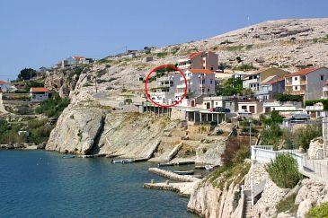Obiekt Zubovići (Pag) - Zakwaterowanie 4065 - Kwatery blisko morza ze żwirową plażą.