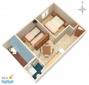 Apartament A-4066-b - Kwatery Zubovići (Pag) - 4066