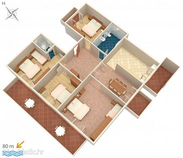 Apartment A-4068-a - Apartments Novalja (Pag) - 4068