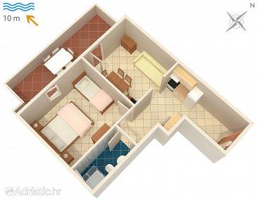 Apartment A-4086-c - Apartments Kustići (Pag) - 4086