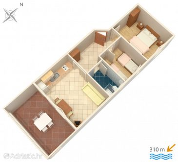 Apartment A-4089-e - Apartments Caska (Pag) - 4089