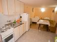 Novalja, Kitchen u smještaju tipa apartment, dopusteni kucni ljubimci i WIFI.