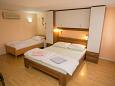 Novalja, Bedroom u smještaju tipa apartment, dostupna klima, dopusteni kucni ljubimci i WIFI.
