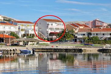 Property Kustići (Pag) - Accommodation 4104 - Apartments near sea with pebble beach.