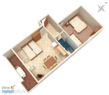 Apartment A-4113-c - Apartments Mandre (Pag) - 4113