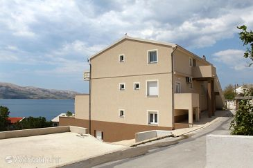 Property Metajna (Pag) - Accommodation 4116 - Apartments with sandy beach.