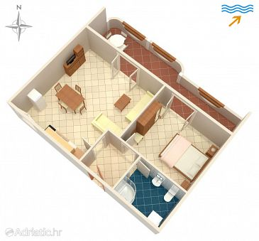Apartment A-4119-c - Apartments Pag (Pag) - 4119