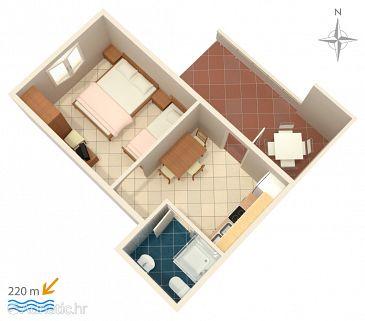 Apartment A-4121-c - Apartments Metajna (Pag) - 4121