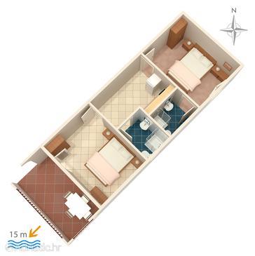 Apartment A-4123-b - Apartments Mandre (Pag) - 4123