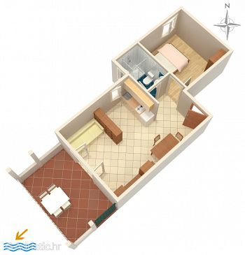 Apartment A-4124-b - Apartments Novalja (Pag) - 4124