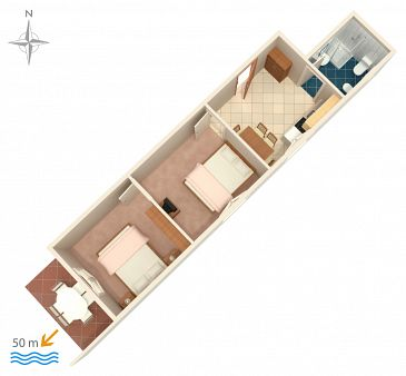 Apartament A-4125-b - Apartamenty Zubovići (Pag) - 4125