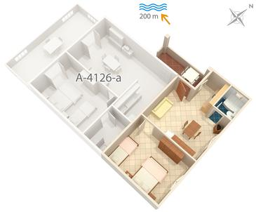 Apartment A-4126-b - Apartments Metajna (Pag) - 4126
