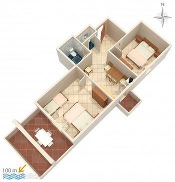 Apartment A-4130-a - Apartments Zubovići (Pag) - 4130