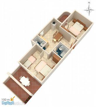 Apartment A-4130-b - Apartments Zubovići (Pag) - 4130