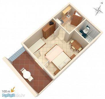Apartment A-4130-g - Apartments Zubovići (Pag) - 4130