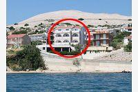 Апартаменты у моря Zubovići (Pag) - 4130