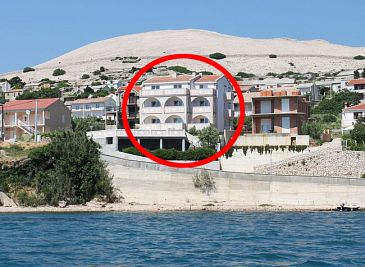 Property Zubovići (Pag) - Accommodation 4130 - Apartments near sea with sandy beach.