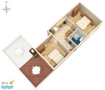 Apartament A-4138-b - Apartamenty Stara Novalja (Pag) - 4138