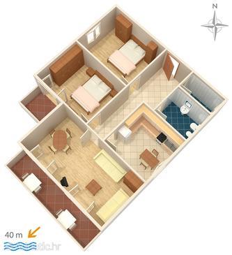 Apartment A-4138-c - Apartments Stara Novalja (Pag) - 4138