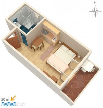 Studio flat AS-4149-c - Apartments Pag (Pag) - 4149