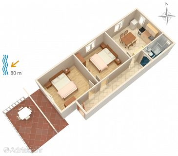 Apartment A-4150-b - Apartments Metajna (Pag) - 4150