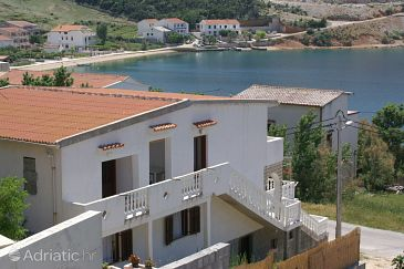 Property Metajna (Pag) - Accommodation 4150 - Apartments near sea with sandy beach.
