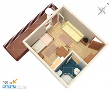 Studio flat AS-4172-f - Apartments Vodice (Vodice) - 4172