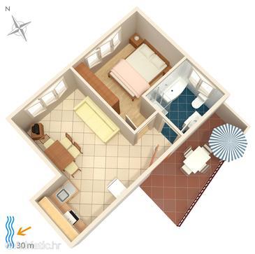 Apartment A-4194-e - Apartments Brodarica (Šibenik) - 4194
