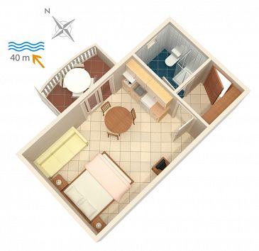 Studio AS-4202-c - Apartamenty Bilo (Primošten) - 4202