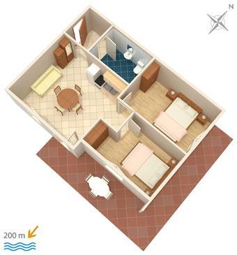 Apartment A-4211-a - Apartments Tribunj (Vodice) - 4211