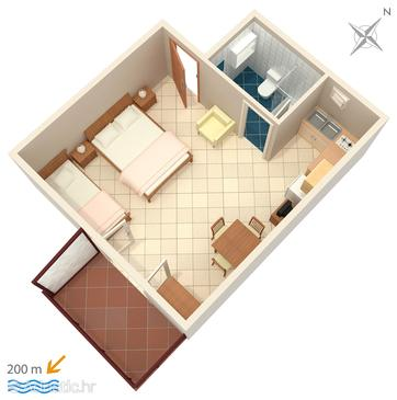 Studio flat AS-4211-a - Apartments Tribunj (Vodice) - 4211