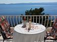 Pisak, Balcony u smještaju tipa studio-apartment, s pogledom na more i WIFI.