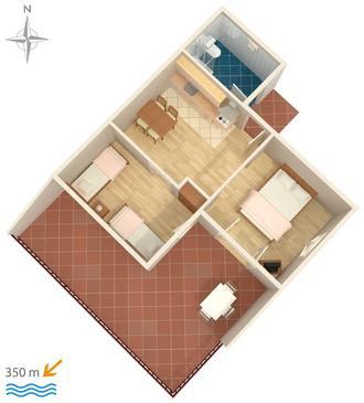 Apartment A-4302-b - Apartments Biograd na Moru (Biograd) - 4302