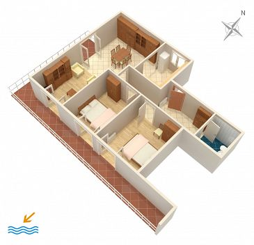 Apartament A-4312-a - Apartamenty Grebaštica (Šibenik) - 4312