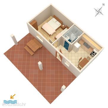 Grebaštica, Plan kwatery u smještaju tipa apartment, WIFI.