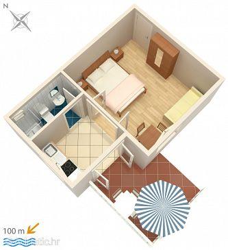 Rogoznica, Plan u smještaju tipa apartment, WIFI.