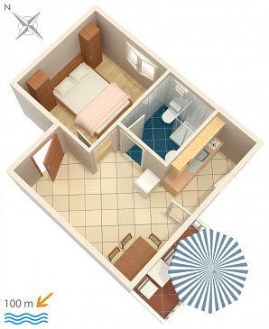 Apartament A-4313-f - Apartamenty Rogoznica (Rogoznica) - 4313