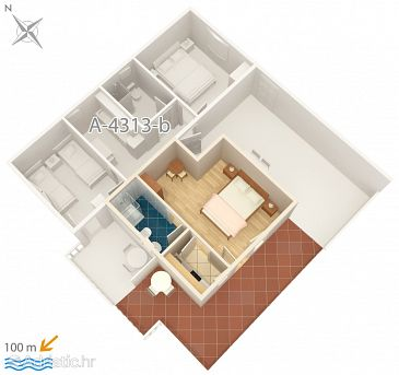 Studio flat AS-4313-a - Apartments Rogoznica (Rogoznica) - 4313