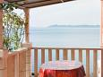 Zavalatica, Taras w zakwaterowaniu typu apartment, s pogledom na more i WIFI.