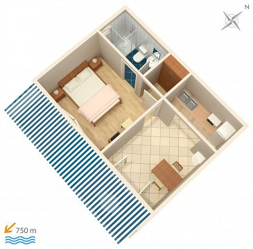 Apartment A-4339-e - Apartments Zavalatica (Korčula) - 4339