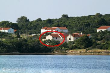 Property Veli Rat (Dugi otok) - Accommodation 436 - Apartments near sea with rocky beach.