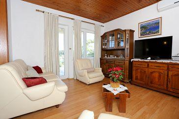 Lumbarda, Living room u smještaju tipa apartment, dostupna klima i WIFI.