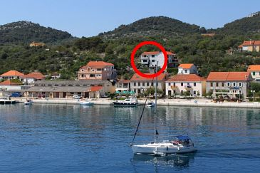 Property Sali (Dugi otok) - Accommodation 444 - Apartments near sea with pebble beach.