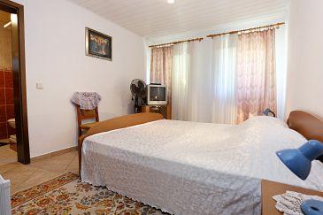 Lumbarda, Sypialnia w zakwaterowaniu typu room, dopusteni kucni ljubimci i WIFI.